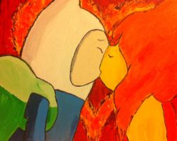 Finn and Flame Princess Kiss (Burning Low) by Emobella101