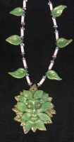 Green man necklace by ladytech