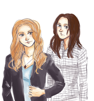 deanna and samantha winchester by maybelletea