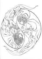 Yin and Yang by Rhaine-Harlequin