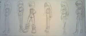 Isabella different realities sketches. by maahvictal