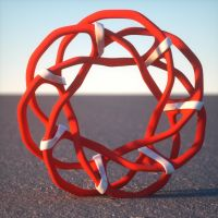 Wings 3D interlinked single loop by davidbrinnen