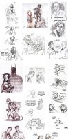 The Dark Knight Rises Doodle Dump by Microbluefish