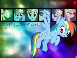 Rainbow Dash Wallpaper by phasingirl