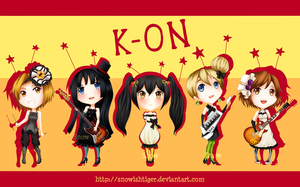K-On Chibies by snowishtiger