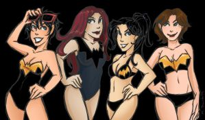 Batgirl Swimsuits by msciuto