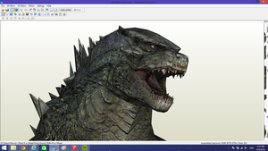 Godzilla Papercraft Part 1 head by Alejandr0-M