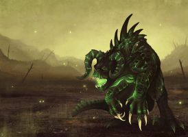 Glowing Deathclaw by Kanizo