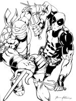 Raph and Deadpool by BrianAtkins