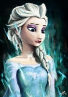Queen Elsa by HunDrenus