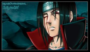 itachi bleeding eye by Yahik0