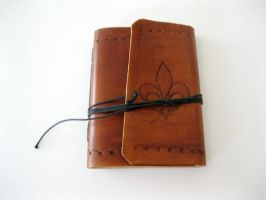 Fleur de Lis Leather Journal by ange-etrange