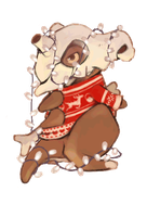 Christmas Cubone by EssenceOfEvil