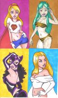Sketchcard Girls by pixie-the-gator