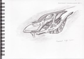 Covenant Light Cruiser Concept by fongsaunder