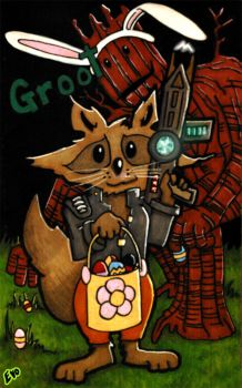 Easter Groot by evoluzione