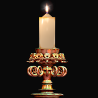 Copper Candlestick by Tate27kh
