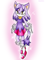 Young Blaze the Cat by Lily-shiramu