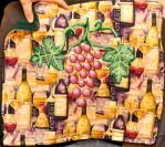 Reversible wine altar cloth by Ormspryde