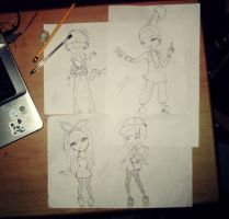 2NE1 Sketches by pyroKhad