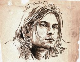 Kurt Cobain by Ophthal
