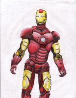 Iron Man--Colored by ZaronianWarCaptain