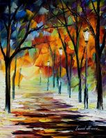 Winter lust by Leonid Afremov by Leonidafremov