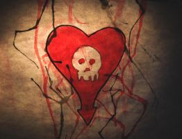 Heart and Skull by hmdid