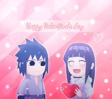 Sasuhina -  happy valentine's day by Ritsucat