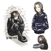 being bucky is suffering by kishi-san