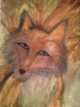 Water Paint Fox by CorenePearl7