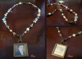 L.V. Beethoven Beaded Necklace by heatherkparks