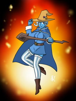 The Great and Powerful Black Mage Trixie by MangaMeister