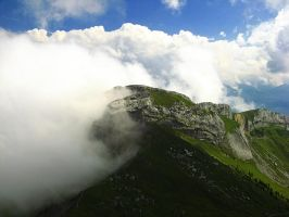 Switzerland - Veiled in Clouds by AgiVega