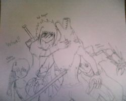 Fight With Friend by Roxasdeath