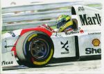 Ayrton Senna, McLaren MP4/8-Ford 1993 by Leotrek