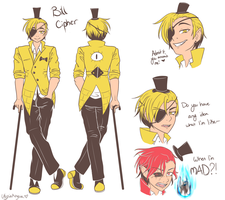Human Bill Cipher -- Original Design by UtopiaAnopia