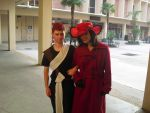 Gaara and Carmen Sandiego at Freecon 8 by greenfluffybunny