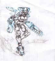 Mecha Outfit Girl by frame2frame