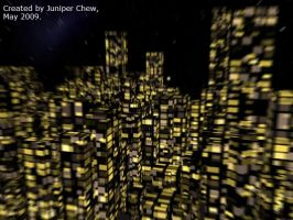 3D night City post-prod by ibr-remote