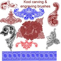Kool flower engraving brushes by koolprincein