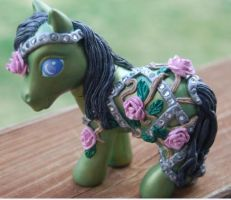 Rose Trellis Faberge Pony 2 by AdeCiroDesigns