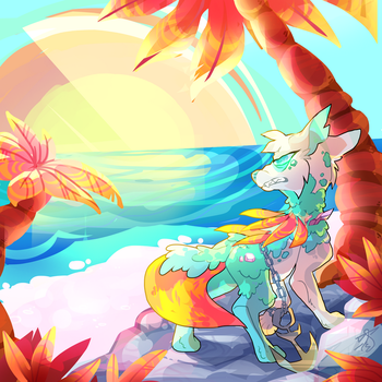 Dta Entry ''Island Paradise'' - Laguna by RainbowCharizard