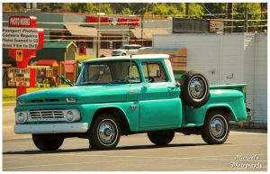 A Mint Green Chevy Truck by TheMan268