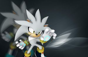Silver the hedgehog wallpaper by Sonic5317