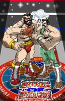Zangief vs. Haggar by SketcheeBizniz