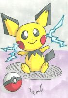 Pichu Sketch Card by IsaiahBroussard