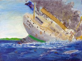 Sinking of the Britannic 2 by rhill555