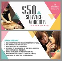 Voucher Design for a Beauty Center by hamdirizal