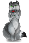 2013.07.09 - Comm Dark Arctic Fox by GaelicKitsune by Dark-Arctic-Fox